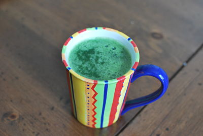 green juice with spirulina