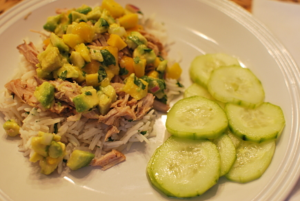 jerk pork with caribbean salsa