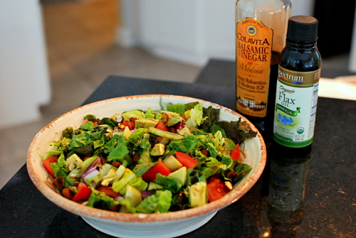 salad w/ balsamic and flax oill