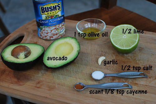 white bean avocado ingredients