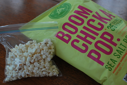 Our favorite Boom Chicka Pop Popcorn - just Non-GMO popcorn, sunflower oil & sea salt.