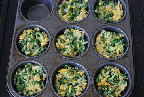 Quinoa Egg Mixture in Muffin Pan
