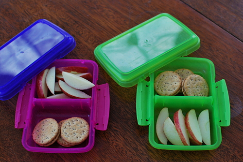 Multi-grain crackers with Sunflower Butter, Apple Slices