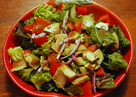 salad with awesome balsamic dressing