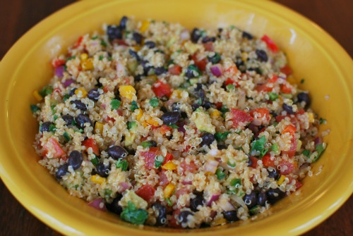 quinoa salad with black beans red bell pepper and southwestern quinoa ...