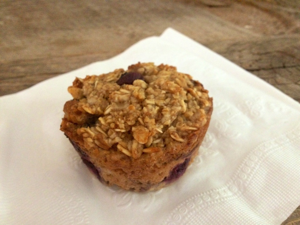 Baked Blueberry Oatmeal Muffin