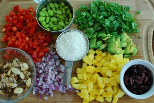 California Quinoa Salad Ingredients by Healthy Plate Happy Family